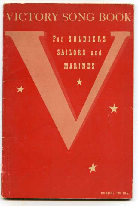 Image for VICTORY SONG BOOK FOR SOLDIERS, SAILORS AND MARINES