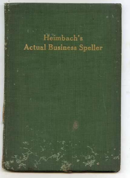 Image for HEIMBACH'S ACTUAL BUSINESS SPELLER