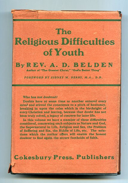 Image for RELIGIOUS DIFFICULTIES OF YOUTH: ESSAYS OF INTERPRETATION & INSPIRATION