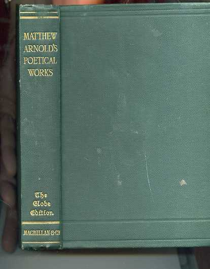 Image for MATTHEW ARNOLD'S POETICAL WORKS