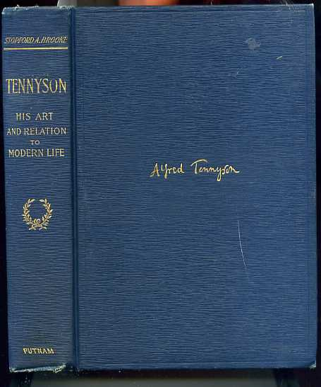Image for TENNYSON: HIS ART AND RELATION TO MODERN LIFE