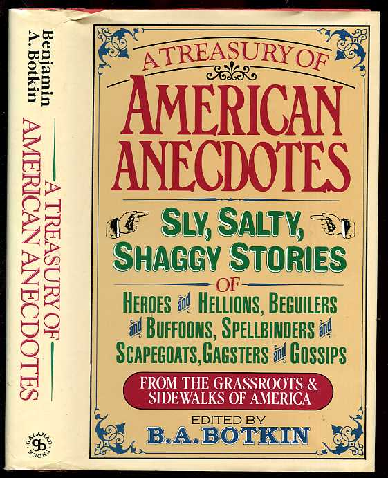 Image for A TREASURY OF AMERICAN ANECDOTES (ISBN: 0883656167)