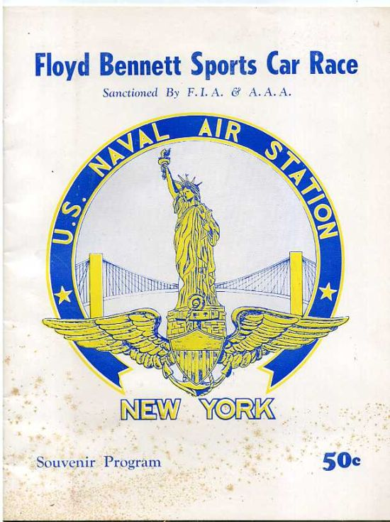 Image for FLOYD BENNETT SPORTS CAR RACE: SOUVENIR PROGRAM. Sanctioned by F. I. A. & A. A.A