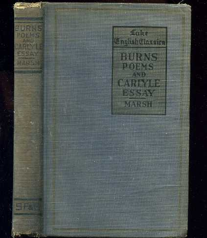 Image for SELECTED POEMS BY ROBERT BURNS AND ESSAY ON BURNS BY THOMAS CARLYLE