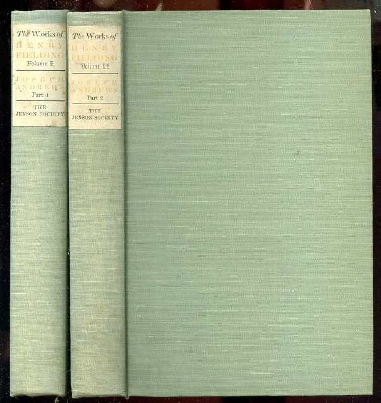 Image for THE ADVENTURES OF JOSEPH ANDREWS and his friend mr abraham adams (Complete in 2 Volumes)
