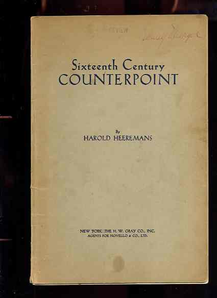 Image for SIXTEENTH CENTURY COUNTERPOINT
