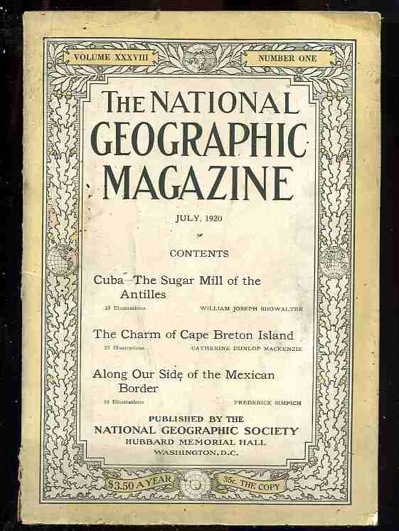 Image for THE NATIONAL GEOGRAPHIC MAGAZINE. VOLUME XXXVIII, NO 1 JULY 1920