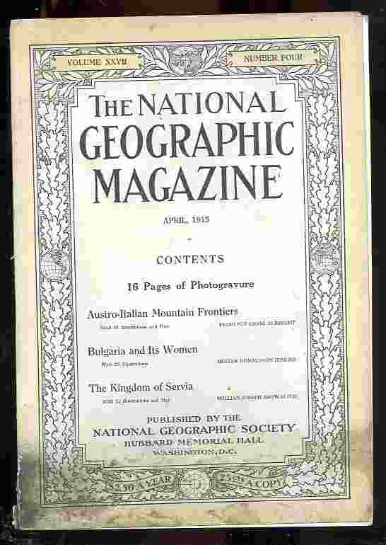 Image for The National Geographic Magazine.Volume XXVII.Number Four.April,1915