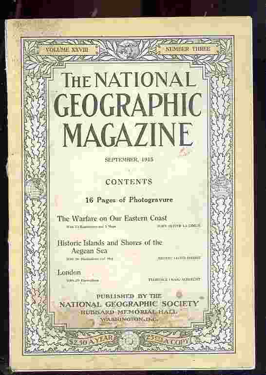 Image for NATIONAL GEOGRAPHIC - VOL.XXVII NO. THREE , SEPTEMBER 1915