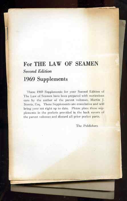 Image for THE LAW OF SEAMEN. CUMULATIVE SUPPLEMENT 7 Books 1965 Vol 2, 1969 Vol 1 & 2, 1966 Vol 1 & 2, 1968 Vol 1&2,