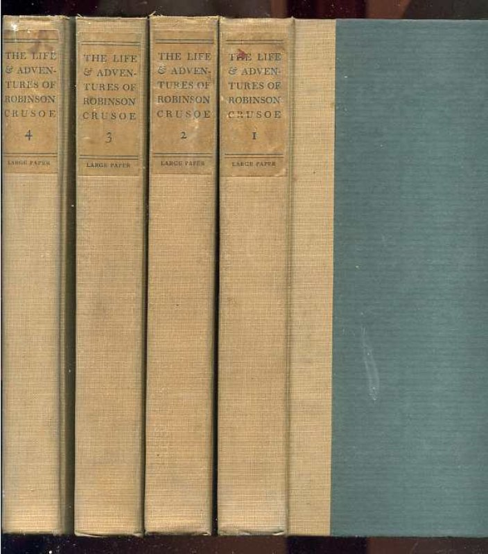 Image for THE LIFE AND STRANGE ADVENTURES OF ROBINSON CRUSOE (LIMITED LARGE PAPER EDITION COMPLETE IN 4 VOLUMES)