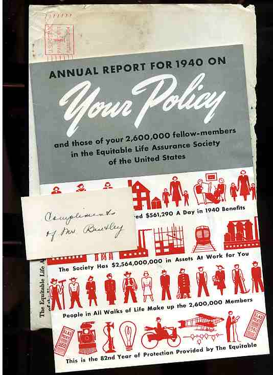 Image for ANNUAL REPORT FOR 1940 ON YOUR POLICY And Thoe of Your 2,600,000 Fellow-Members in the Equitable Life Assurance Society of the United States