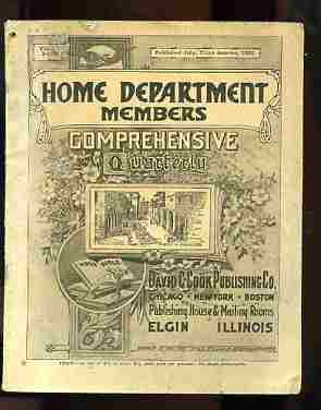Image for THE COMPREHENSIVE QUARTERLY, HOME DEPARTMENT MEMBERS, July 1922