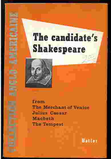 Image for THE CANDIDATE'S SHAKESPEARE Scenes from the Merchant of Venice- Julius Caesar- MacBeth- the Tempest