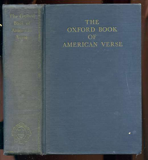 Image for THE OXFORD BOOK OF AMERICAN VERSE