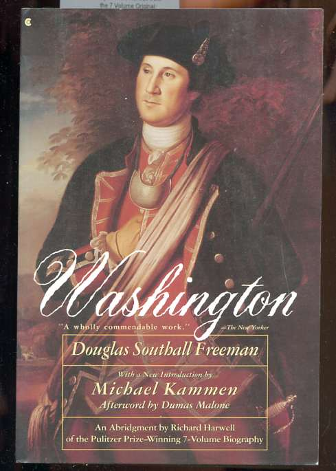 Image for WASHINGTON (ISBN: 0020432143)  Abridged by Richard Harwell from the 7 Volume Original