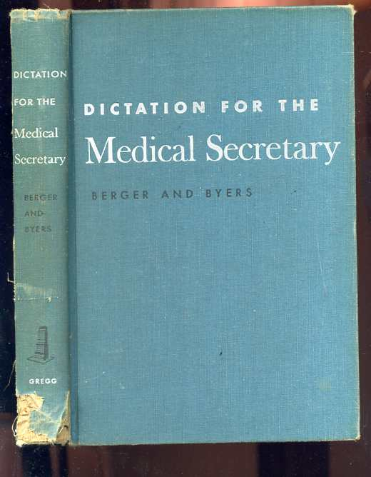 Image for DICTATION FOR THE MEDICAL SECRETARY