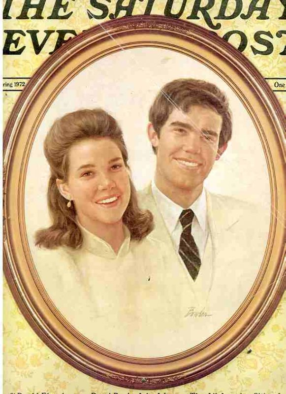 Image for THE SATURDAY EVENING POST: SPRING 1972, JULIE & DAVID EISENHOWER COVER [LBC]