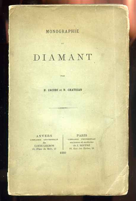 Image for MONOGRAPHIE DU DIAMANT (MONOGRAPH OF DIAMOND)