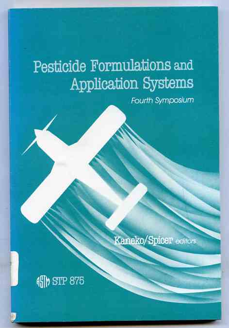 Image for PESTICIDE FORMULATIONS AND APPLICATION SYS Fourth Symposium
