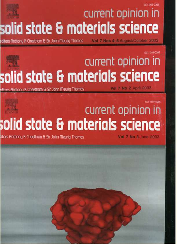 Image for CURRENT OPINION IN SOLID STATE AND MATERIALS SCIENCE 2003 Volume 7 Number to April, Boy of Seven Number Three June, Voyeur Number Seven Number Four -- 5 August/october (Three Magazines)