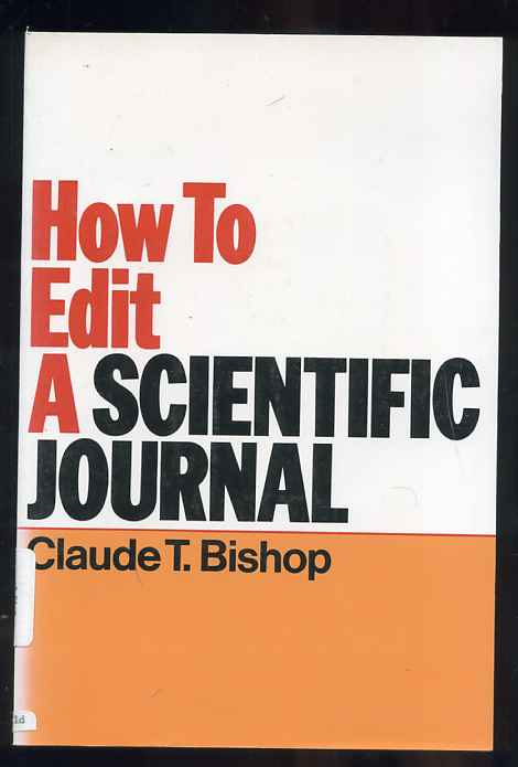 Image for How to Edit a Scientific Journal