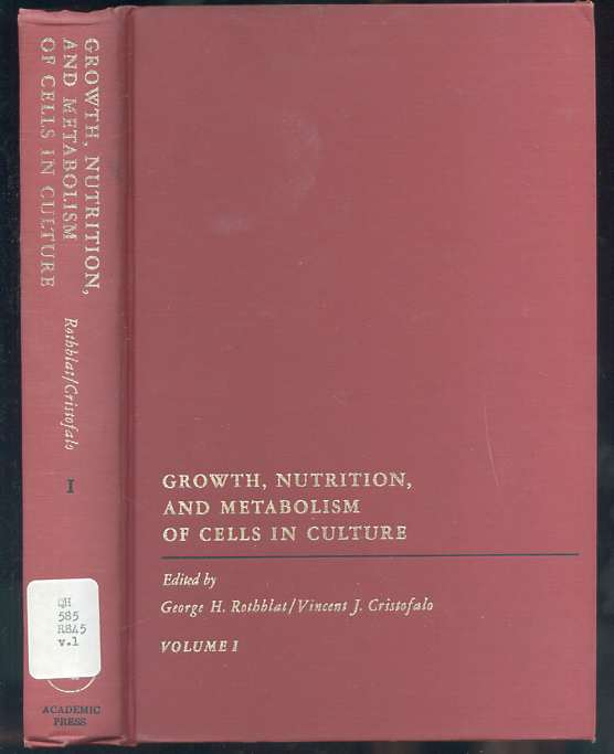 Image for Growth, nutrition, and metabolism of cells in culture