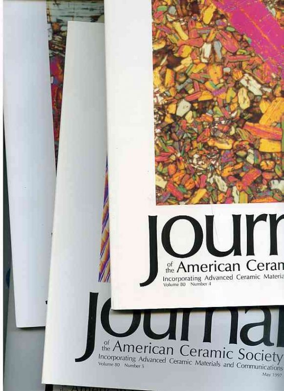 Image for JOURNAL OF THE AMERICAN CERAMIC SOCIETY 1997 Incorporating Advanced Ceramic Materials and Communications: Volume 80 Nos 4-10 April-October