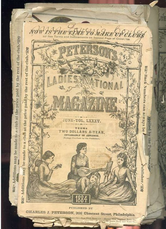 Image for PETERSON'S LADIES NATIONAL MAGAZINE. ISSUE OF JULY , OCTOBER, FEBRUARY 1884, Vol LXXXVI, LXXXV (3 Copies) , LXXXVI Etc (7 Copies)