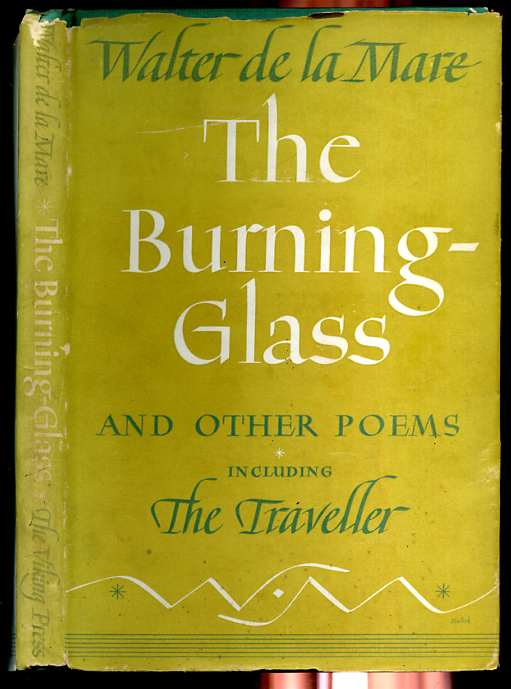 Image for THE BURNING-GLASS AND OTHER POEMS INCLUDING THE TRAVELLER