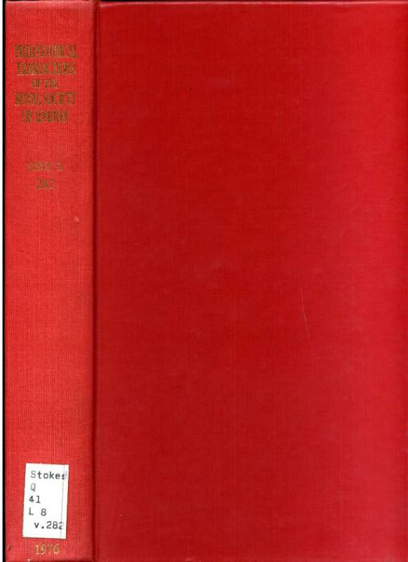 Image for PHILOSOPHICAL TRANSACTIONS OF THE ROYAL SOCIETY OF LONDON Series a Volume 270 Mathematical and Physical Sciences