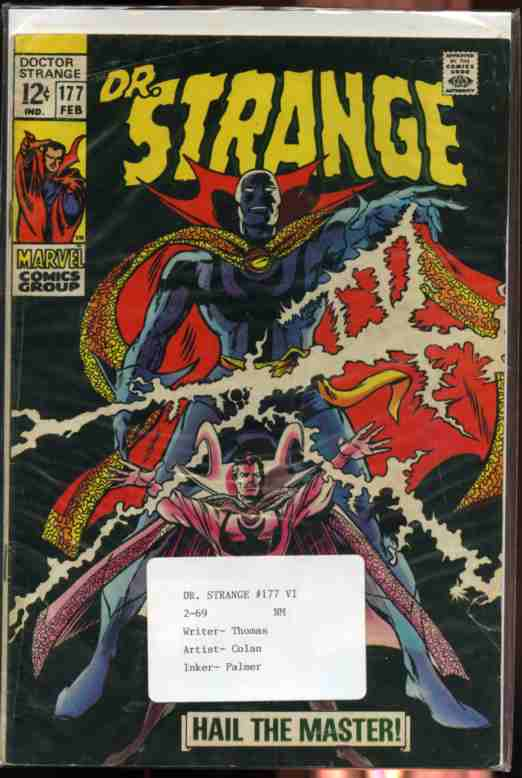"Image for DOCTOR STRANGE FEB 1969 NO. 177 COMIC ""Hail the Master"", the First Appearance of a New Costume 12c"