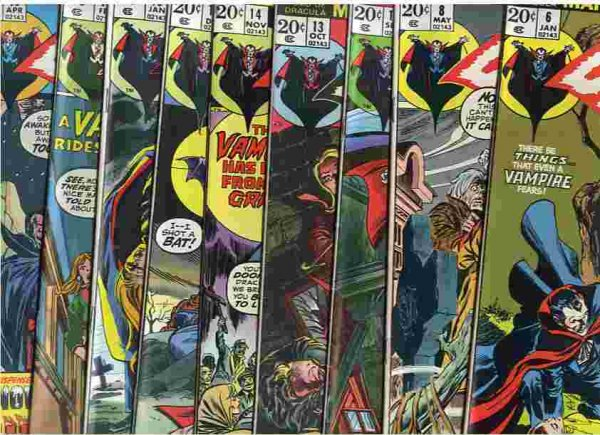 Image for Tomb Of Dracula April 1973 On Nos 6, 8, 12 Through 17, 19, 21. 10 Comics