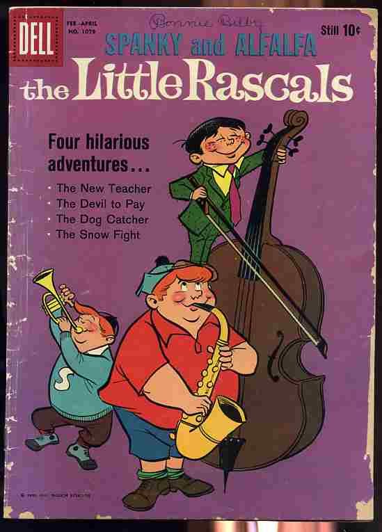 Image for THE LITTLE RASCALS (SPANKY AND ALFALFA) NO. 1079 FEBRUARY -- APRIL, 1960 Comic Books (Four-Color)
