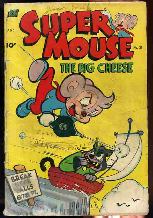 Image for SUPER MOUSE, THE BIG CHEESE NUMBER 21, 1952 Comics, Comic