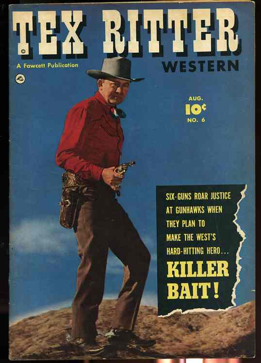 Image for TEX RITTER WESTERN NUMBER SIX AUGUST 1951 Comics, Comic
