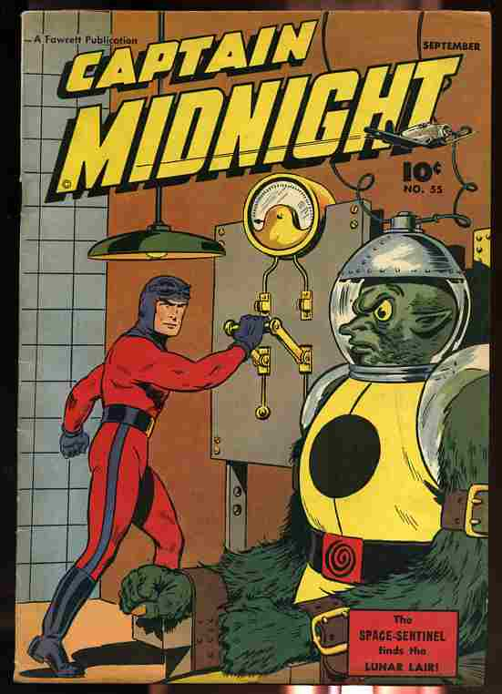 Image for CAPTAIN MIDNIGHT NUMBER 55, VOLUME 10, SEPTEMBER 1947 Comics, Comic the Space Sentinel Finds the Lunar Lair