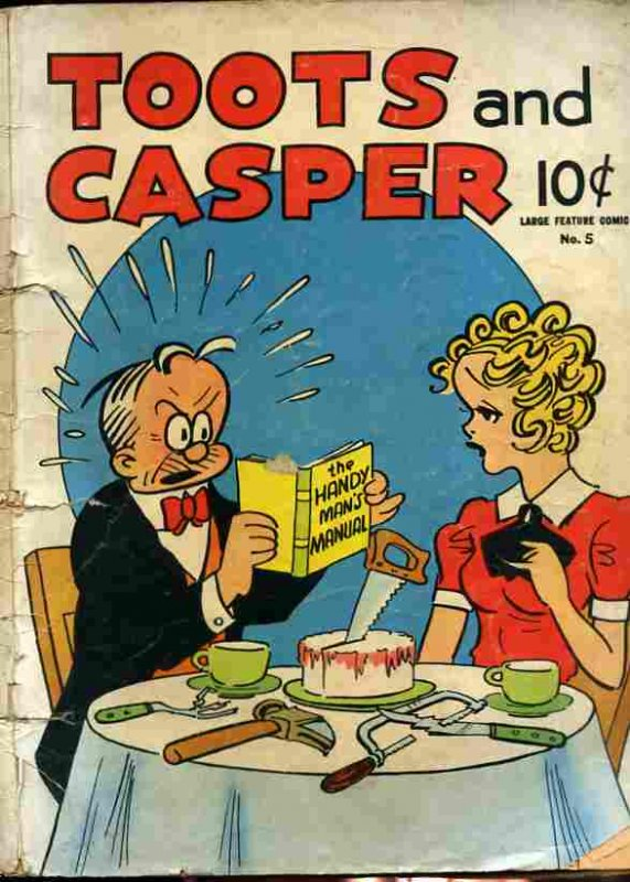 Image for TOOTS AND CASPER NUMBER 5 1942 LARGE FEATURE COMIC Comics, Comic