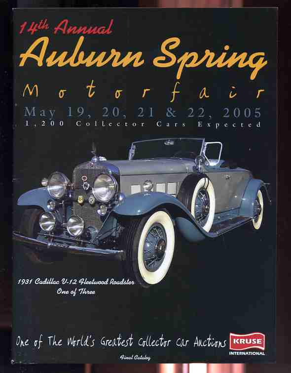 Image for AUBURN SPRING MOTOR FAIR (MOTORFAIR)  Kruse International One of the World's Greatest Collector Car Auctions May 2005