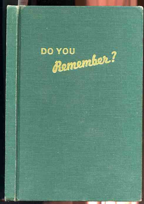 Image for DO YOU REMEMBER?