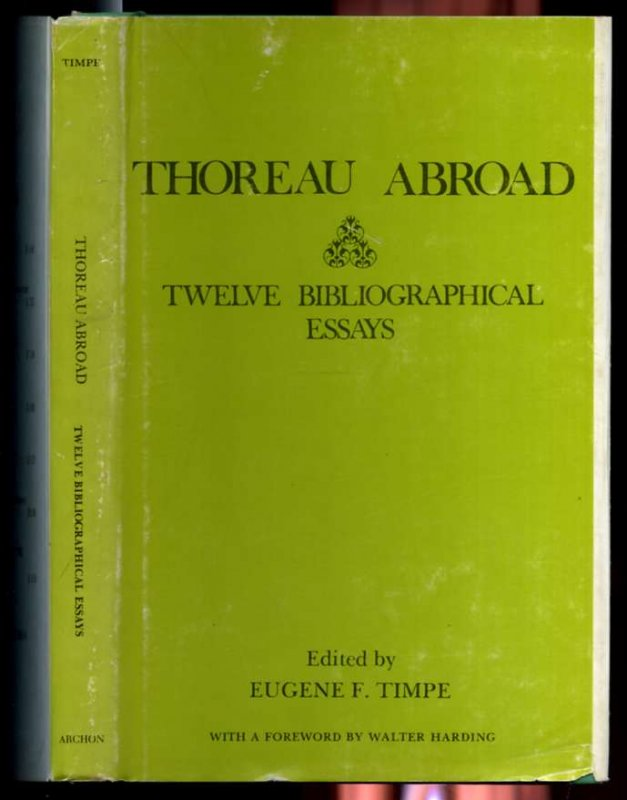 Image for THOREAU ABROAD TWELVE BIBLIOGRAPHICAL ESSAYS