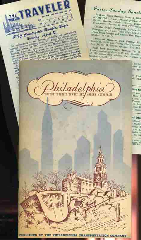"Image for PHILADELPHIA ""GREENE COUNTRIE TOWNE"" AND MODERN METROPOLIS With a Couple Pieces of Ephemera Laid In"