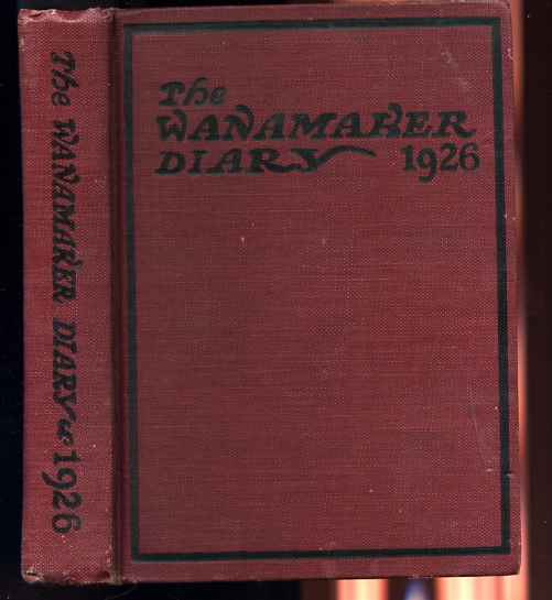 Image for WANAMAKER DIARY 1926 Holographic Entries
