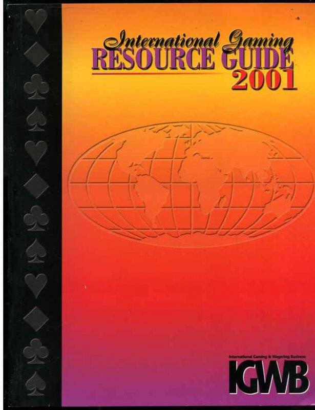 Image for INTERNATIONAL GAMING RESOURCE GUIDE 2001