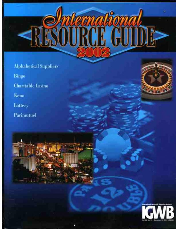 Image for INTERNATIONAL GAMING RESOURCE GUIDE 2002