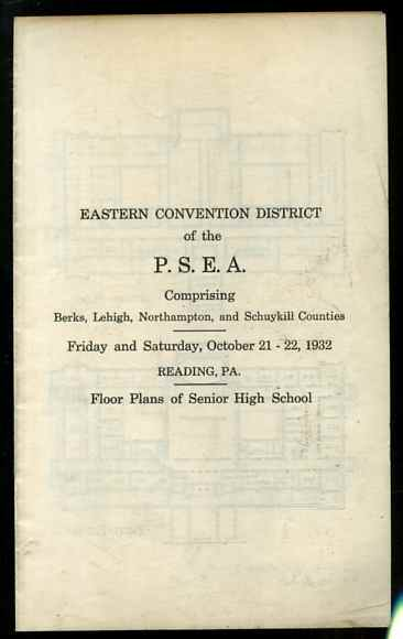 Image for FLOOR PLANS FOR READING PENNSYLVANIA SENIOR HIGH SCHOOL 1932