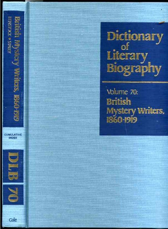 Image for BRITISH MYSTERY WRITERS, 1860-1919 (DICTIONARY OF LITERARY BIOGRAPHY SER., VOL. 70)