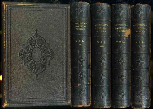 Image for THE POETICAL WORKS OF HENRY WADSWORTH LONGFELLOW (COMPLETE IN 4 DELUXE FULL LEATHER VOLUMES)