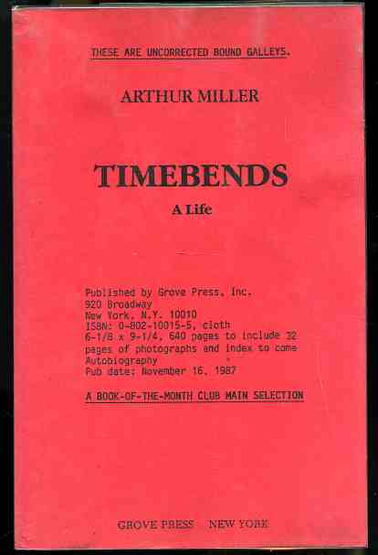 Image for TIMEBENDS: A LIFE  (Uncorrected Bound Galleys)