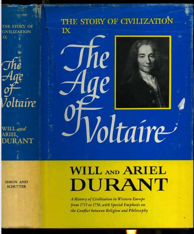 Image for THE AGE OF VOLTAIRE The Story of Civilization Vol IX Only